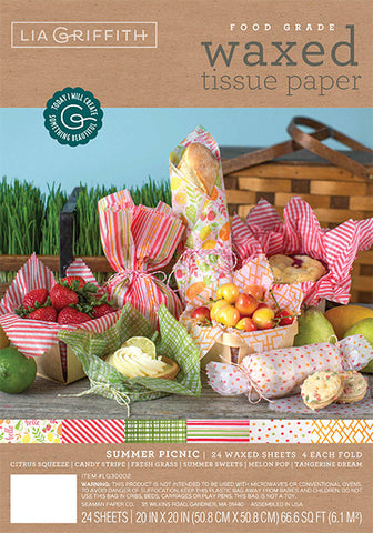 Summer Picnic Food Wax Paper