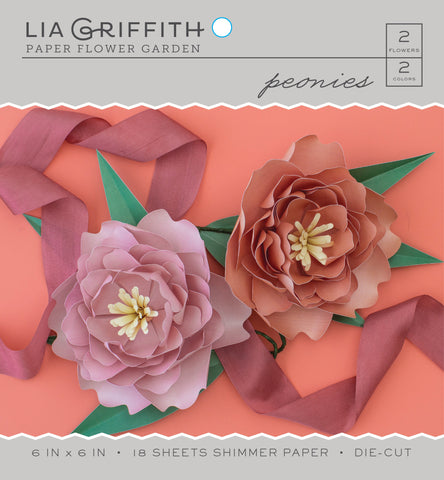 Peony Frosted Paper Flower Kit