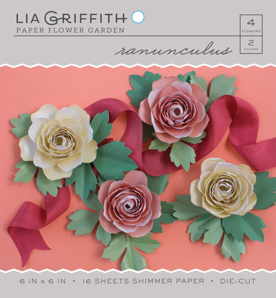 Ranunculus frosted paper flower kit lia griffith mightylinksfo