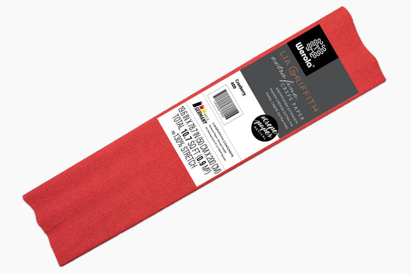 Single Pack - Extra Fine Crepe Paper – Cranberry