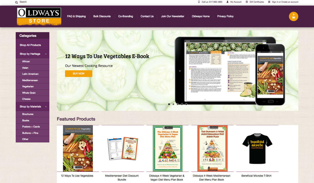 Health foods homepage website