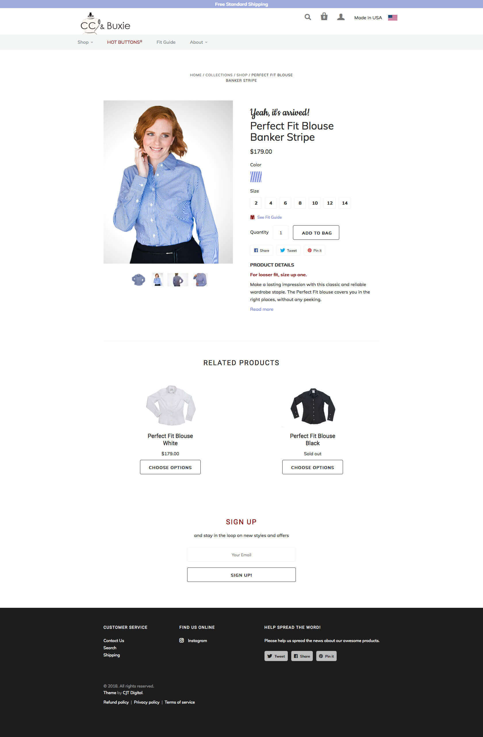 Product page screenshot