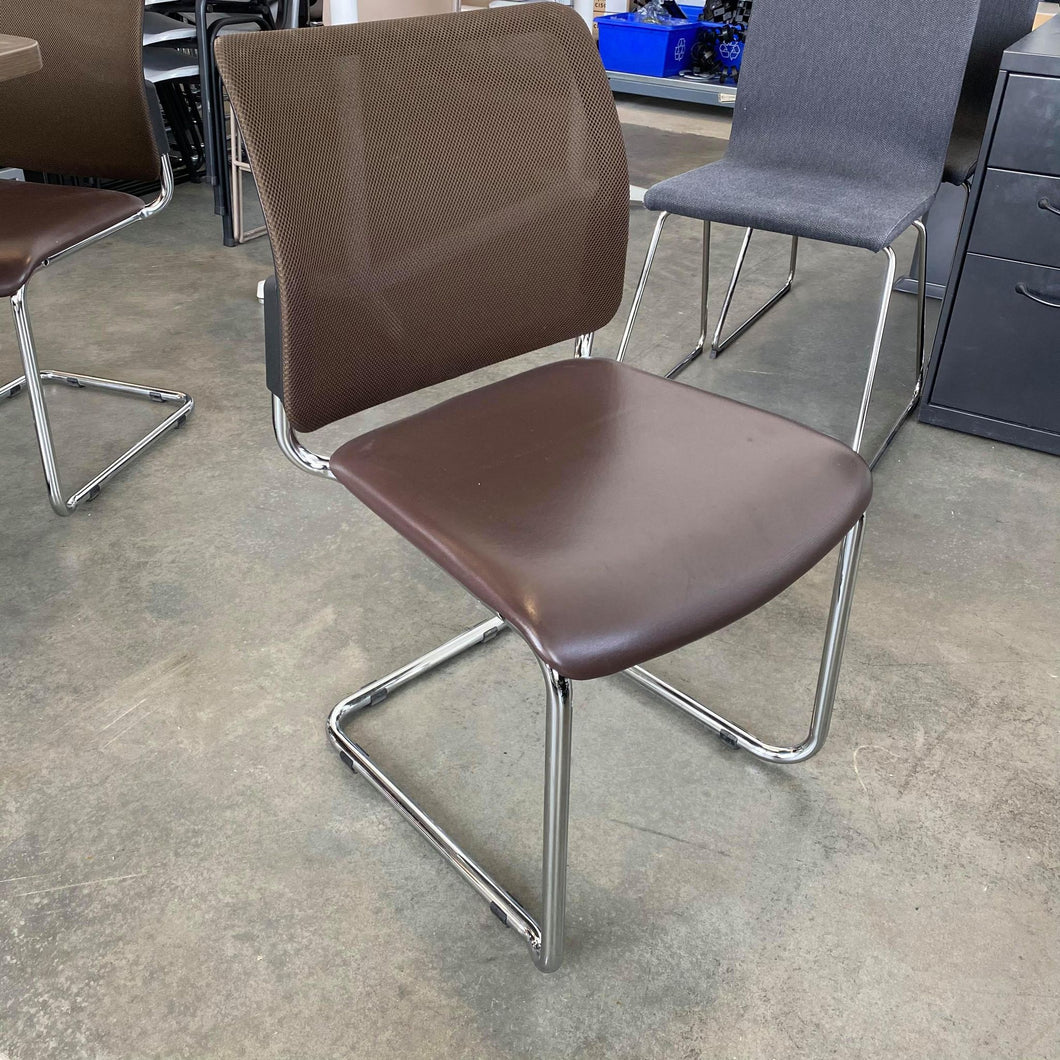 Used Mesh and Leather Guest Chair