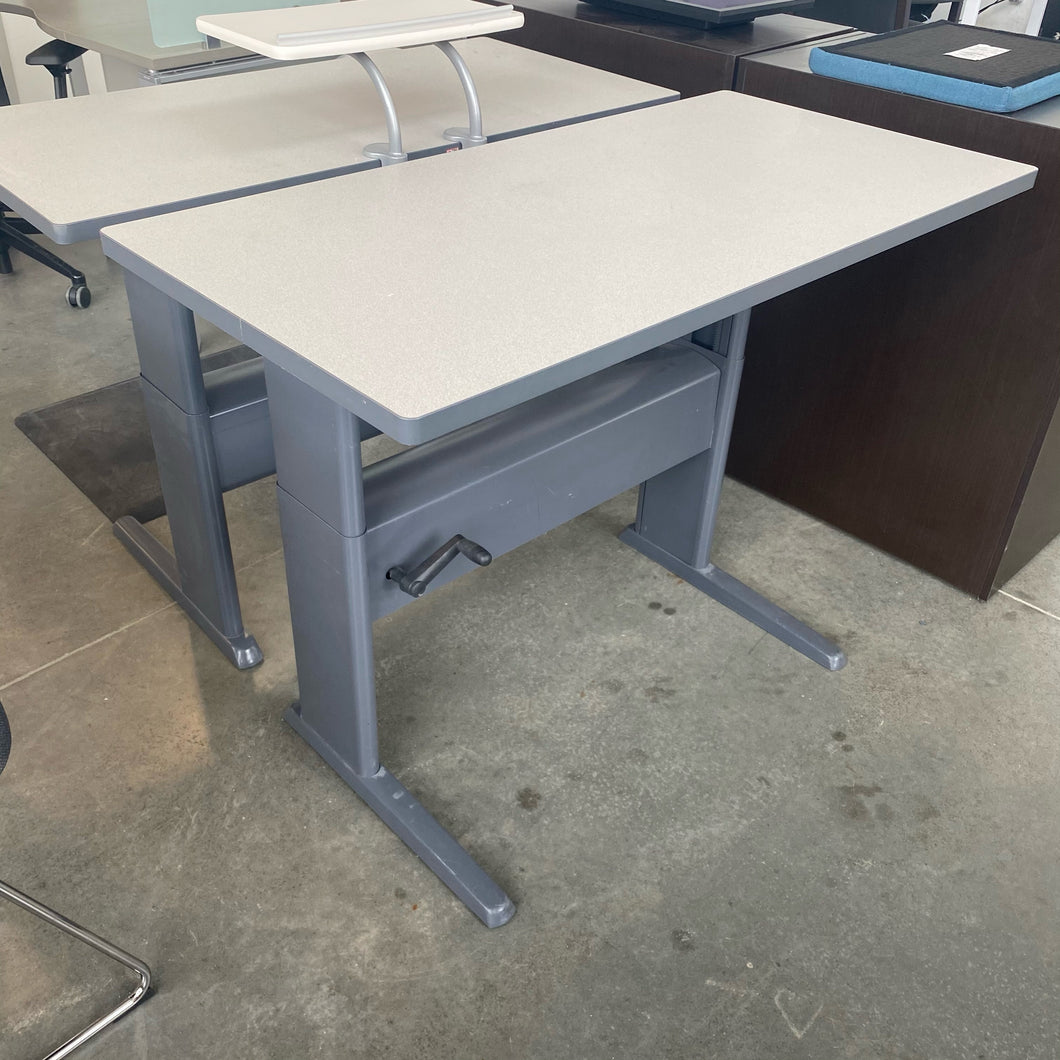 Used Teknion Manual Height Adjustment Sit-Stand Desk