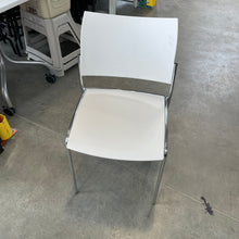 Load image into Gallery viewer, Used Mayline White Stacking Chairs