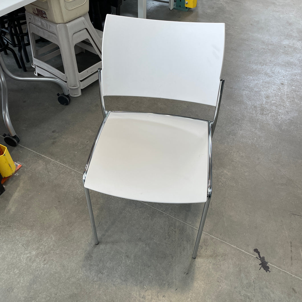 Used Mayline White Stacking Chairs