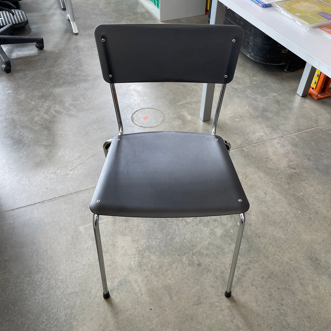 Used Black Stacking Chair