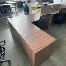 "Load image into Gallery viewer, Used L-Shaped 72"" x 66"" Executive Desk"