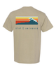 Khaki Tidal Waves Pocket Tee