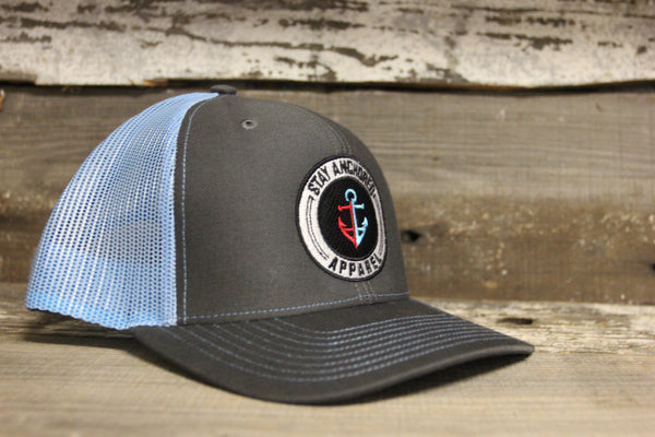 Trucker Hat (Charcoal/ Columbia Blue)