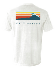 White Tidal Waves Pocket Tee