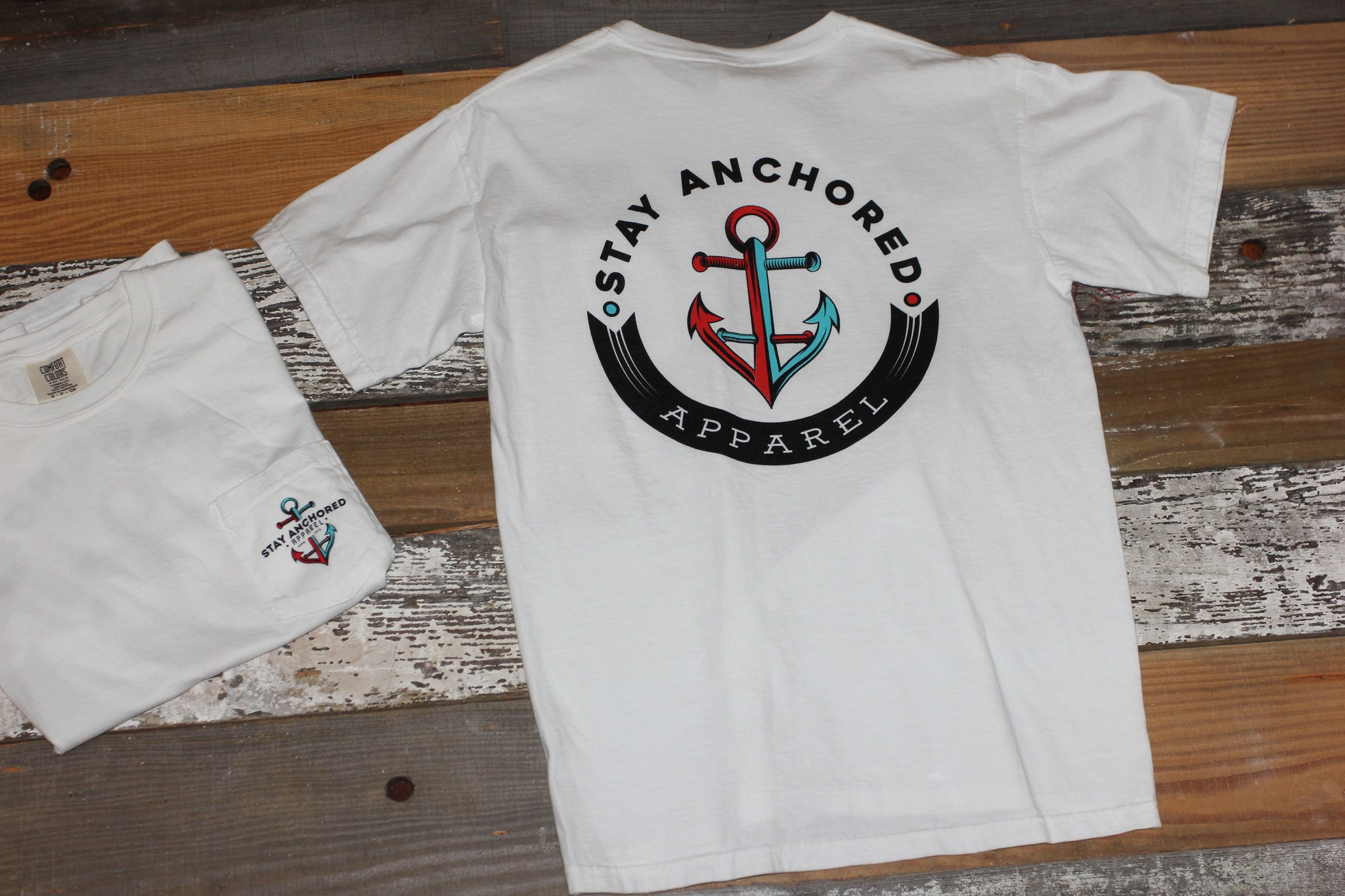 "Signature ""Stay Anchored"" Tee 