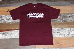 Stay Anchored Tee | Maroon