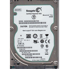 SEAGATE St250Lt007 Momentus Thin 250Gb 7200Rpm 2.5Inch 16Mb Buffer Sataii Notebook Drives