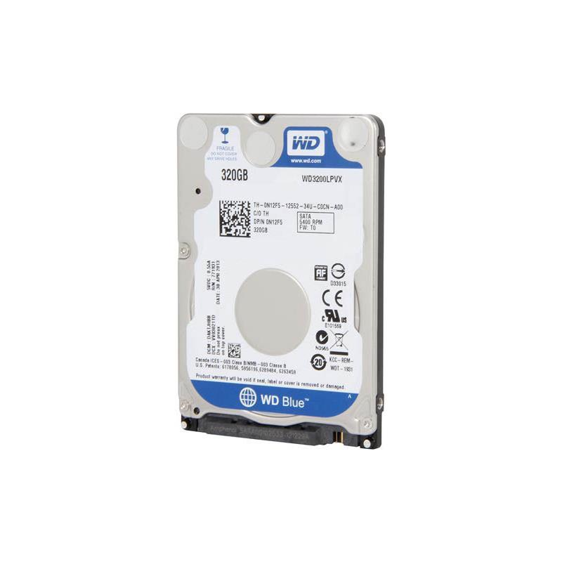 Western Digital New With Standard Mfg Warranty. Wd Blue 320Gb 5400Rpm Sata6Gbps 8Mb Buffer 7Mm 2.5Inch Hard Drives