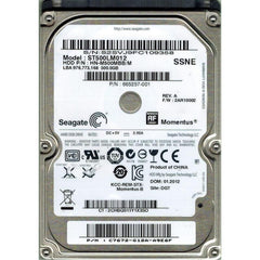 SEAGATE St500Lm012 Momentus 500Gb 5400Rpm 8Mb Buffer Sataii 2.5Inch Notebook Drive