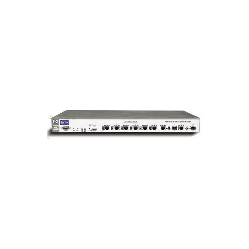 HP J4902A Procurve 6108 8Port 1000Bt 2Pt Mini Gbic 1Gbps 10 By 100 By 1000Tx 6Port Fast Ethernet Switch