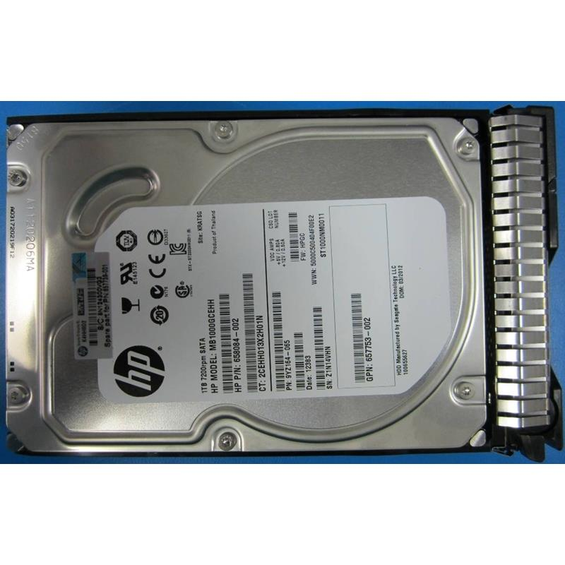 HP MB1000GCEHH 1Tb 7200Rpm 6G Sata Lff 3.5Inch Sc Midline Hard Disk Drive With Tray For Gen8 Server Series