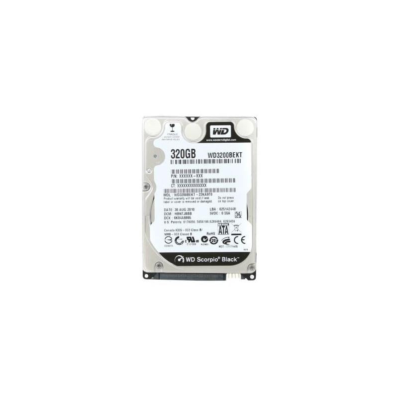 Western Digital Scorpio Black 320Gb 7200Rpm Sataii 7Pin 16Mb Buffer 2.5Inch Notebook Drives With Shock Guard