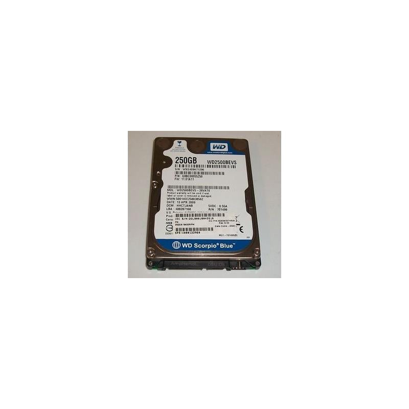 Western Digital Scorpio Blue 250Gb 5400Rpm Sata 7Pin 8Mb Buffer 2.5Inch Low Profile(1.0 Inch) Notebook Drive