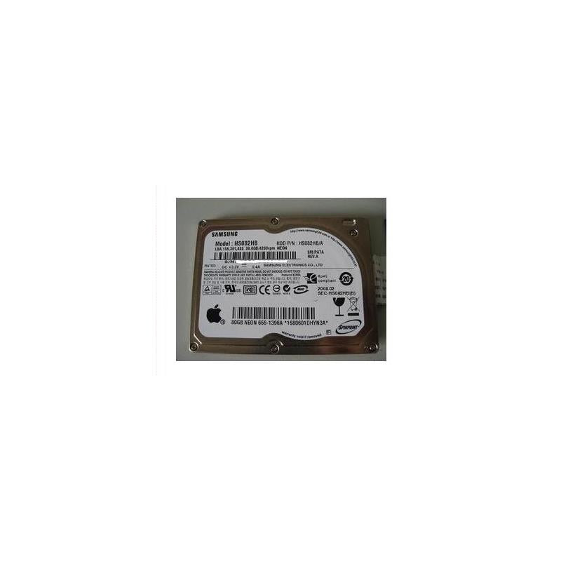 SAMSUNG Hs082Hb Spinpoint N2B 80Gb 4200Rpm 8Mb Buffer 1.8Inch Pata Notebook Drive