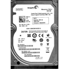 SEAGATE St9500420Asg Momentus 500Gb 7200 Rpm Sataii 16Mb Buffer 2.5Inch Form Factor Internal Hard Disk Drive