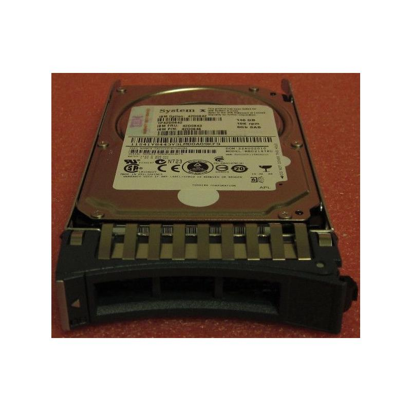 IBM 42D0643  146Gb 10000Rpm 2.5Inch Sff Sas6Gbps Hot Swap Hard Drive With Tray-42D0643