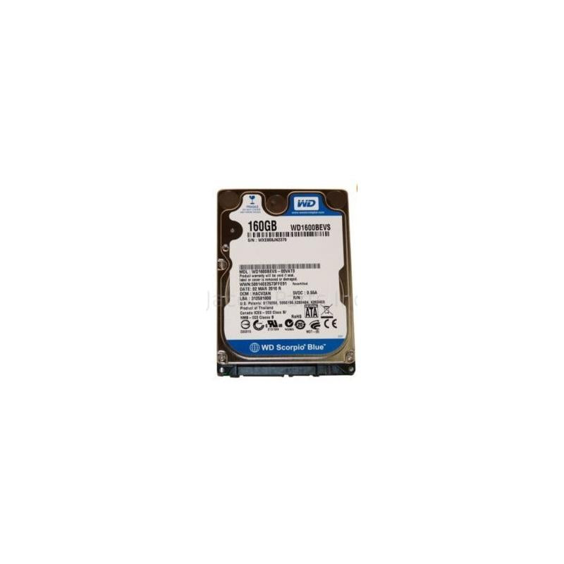 Western Digital Scorpio Blue 160Gb 5400Rpm Sata 7Pin 8Mb Buffer 2.5Inch Low Profile (1.0 Inch) Notebook Drive