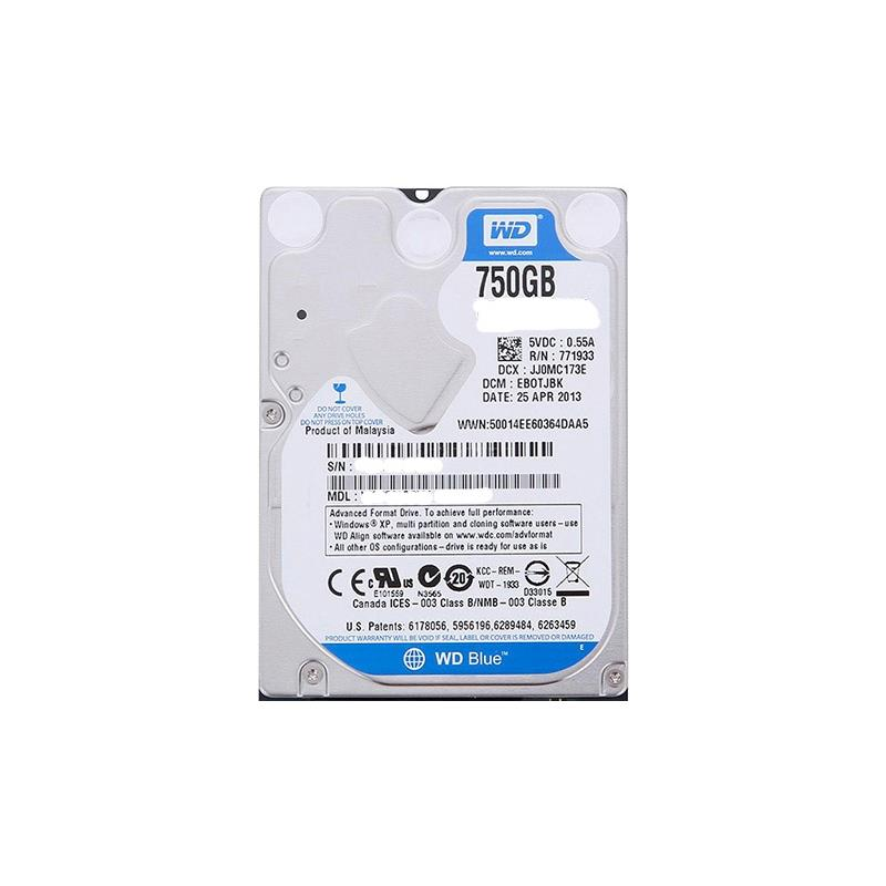 Western Digital New With Standard Mfg Warranty. Wd Blue 750Gb 5400Rpm Sata6Gbps 16Mb Buffer 2.5Inch 7Mm Hard Drives