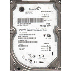 SEAGATE St960822A Momentus 60Gb 5400 Rpm Eide Notebook Hard Disk Drive. 8Mb Buffer Dma Ata 100(Ultra) 2.5 Inch Ultra Slim Line 9.5 Mm Height