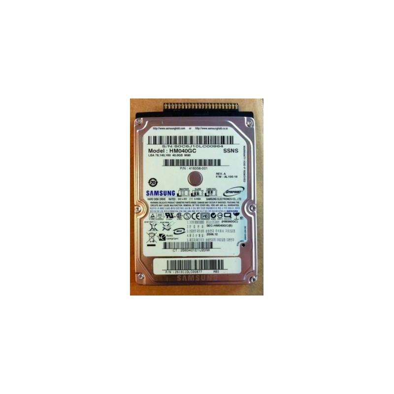 SAMSUNG Hm040Gc Spinpoint M80 Series 40Gb 5400Rpm 8Mb 2.5Inch Udma 100 Ide Notebook Drive