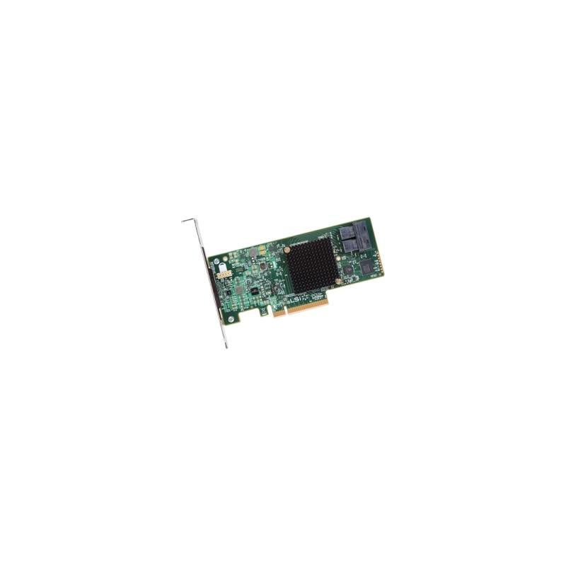 LSI 00344 Logic 12Gb S Pcie 3.0, 8 Ports Internal Sata Sas Host Bus Adapter With Low Profile Bracket