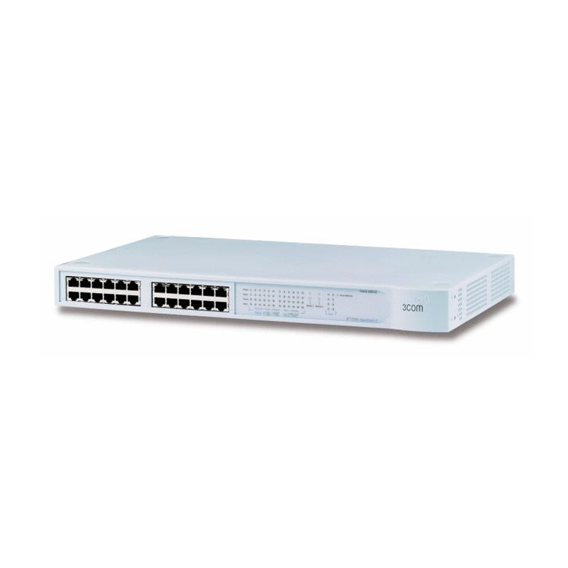 3COM   Superstack Iii 24 Port 10 100 Stackable Networking Switch 4400 Se With 2 Expansion Slot