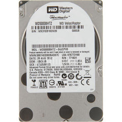 Western Digital Velociraptor 500Gb 10000Rpm Sata6Gbps 7Pin 2.5Inch 64Mb Buffer Notebook Drives