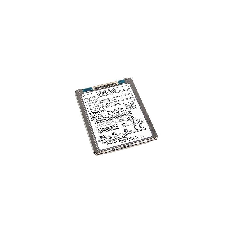 TOSHIBA Hdd1764 80Gb 4200Rpm 2Mb Buffer Ata Ide100 Zif Connector 1.8Inch 8Mm Notebook Drive