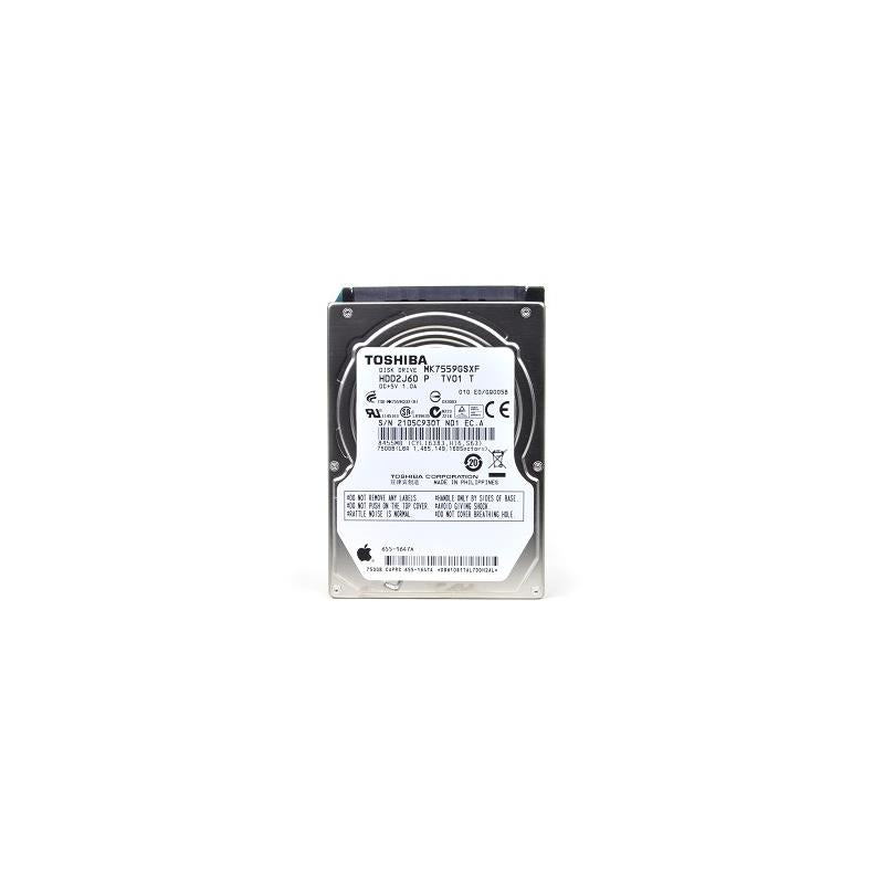 TOSHIBA Mk7559Gsxf 750Gb 5400Rpm 8Mb Buffer 2.5Inch Sataii Notebook Drive For Apple