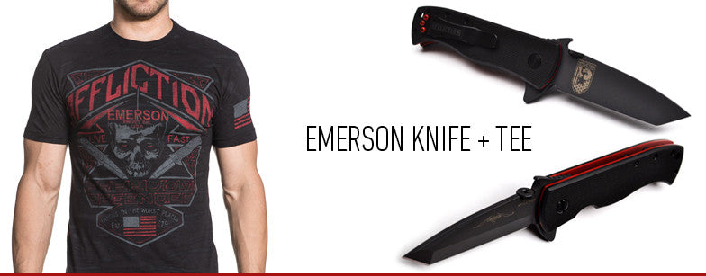 EMERSON KNIVES - FREEDOM DEFENDER - RANDY COUTURE - AFFLICTION - SPECIAL EDITION