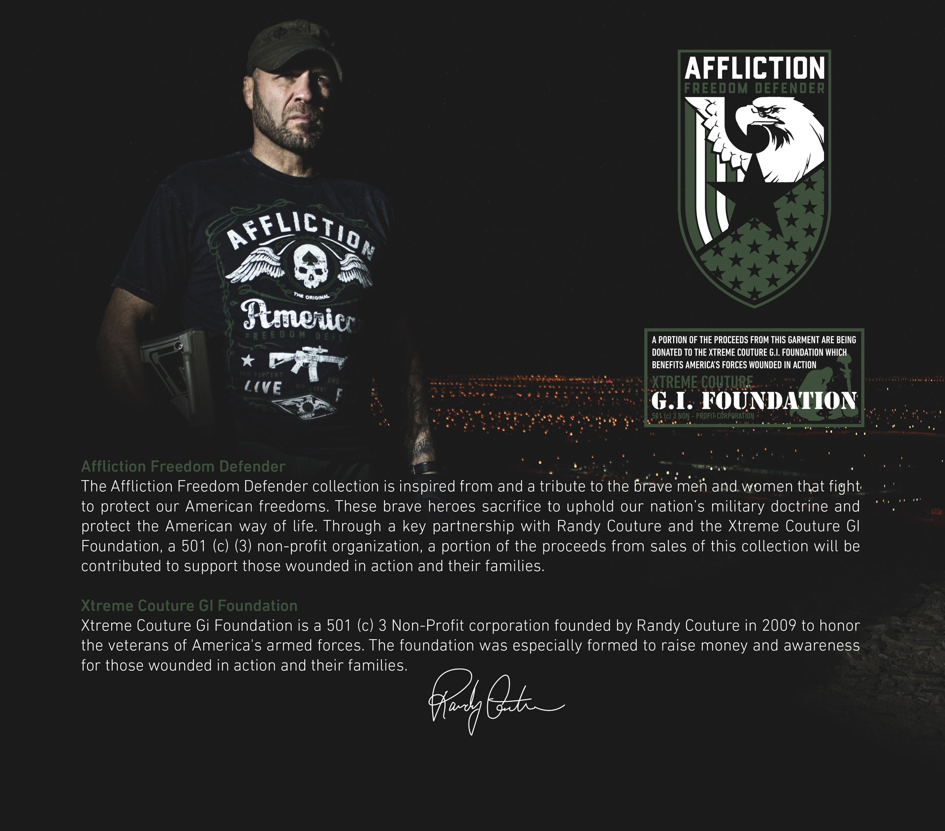 FREEDOM DEFENDER BY AFFLICTION WITH RANDY COUTURE