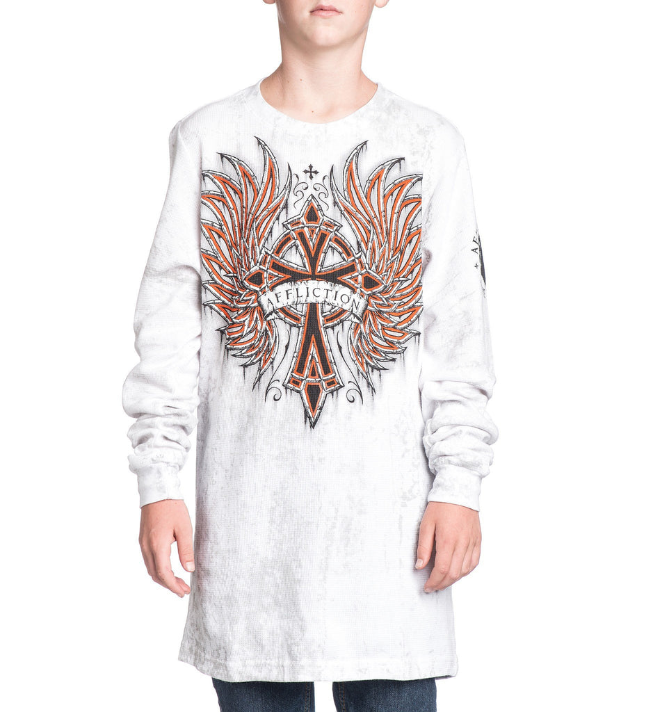 Kids Long Sleeve Tees - Chromatic Rust