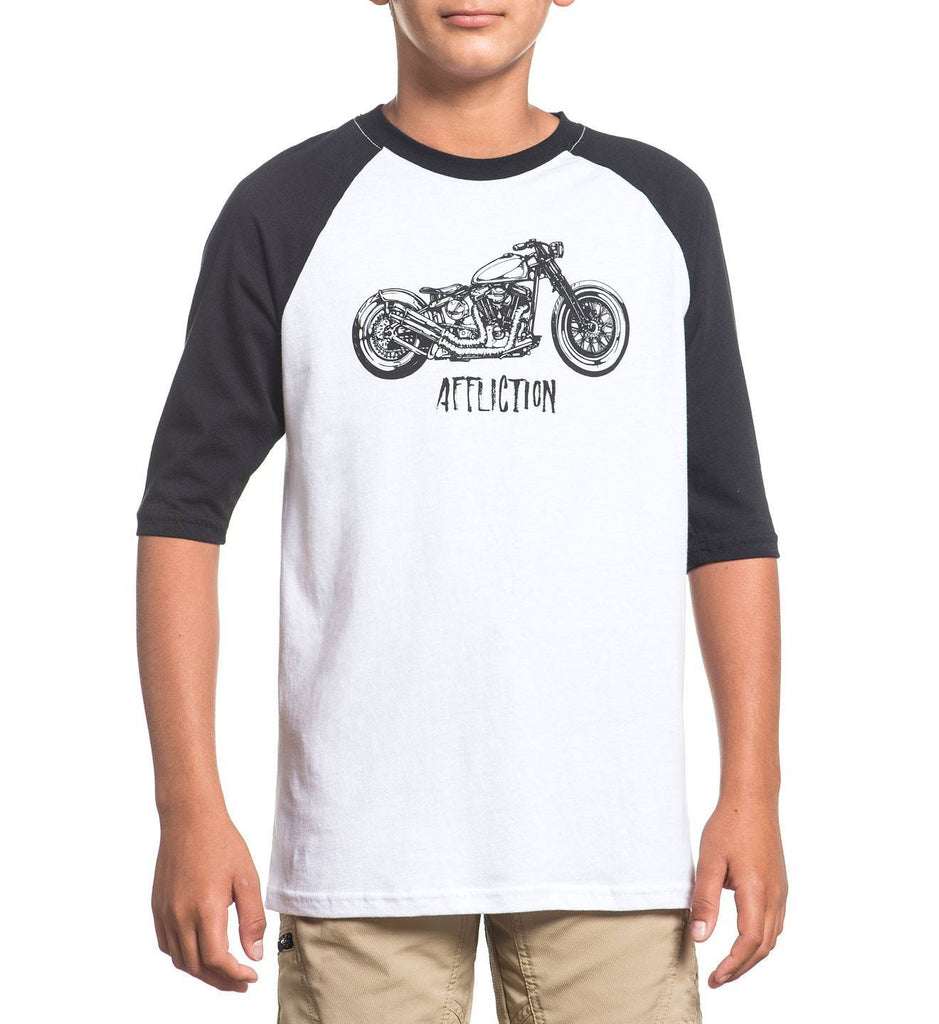 Kids Long Sleeve Tees - Kids Moto Creed / Youth