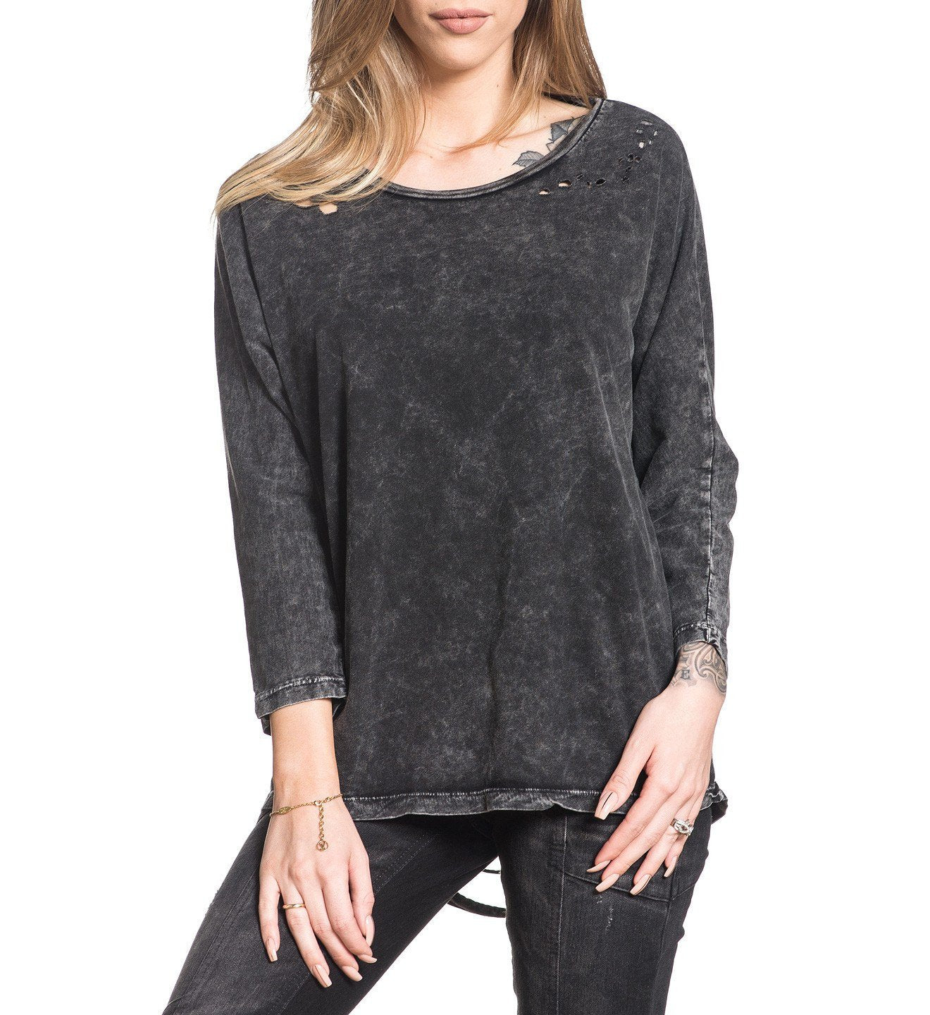Standard Supply W-058 - Womens Long Sleeve Tees - Affliction Clothing