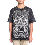 Kids Short Sleeve Tees - Caustic - Youth