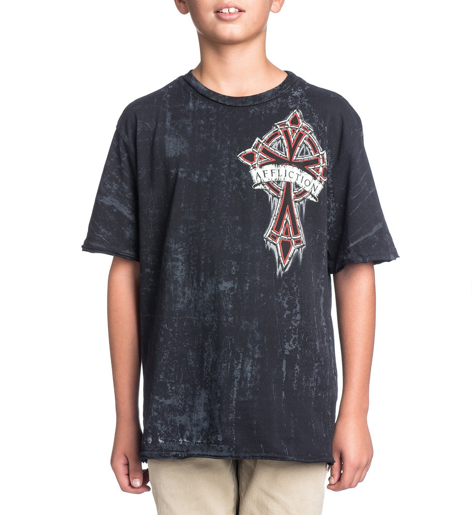 Kids Short Sleeve Tees - Chromatic Cross - Youth