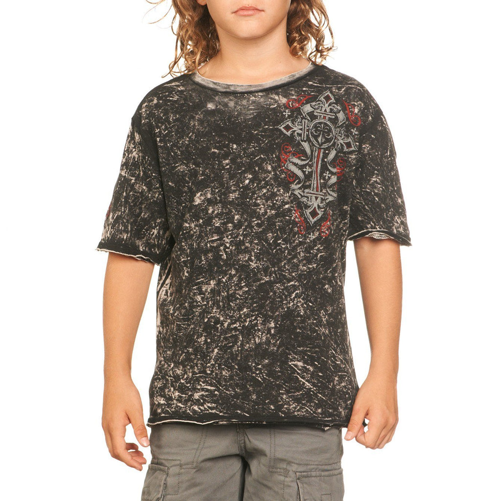 Kids Short Sleeve Tees - Dark Soldier Reversible - Youth