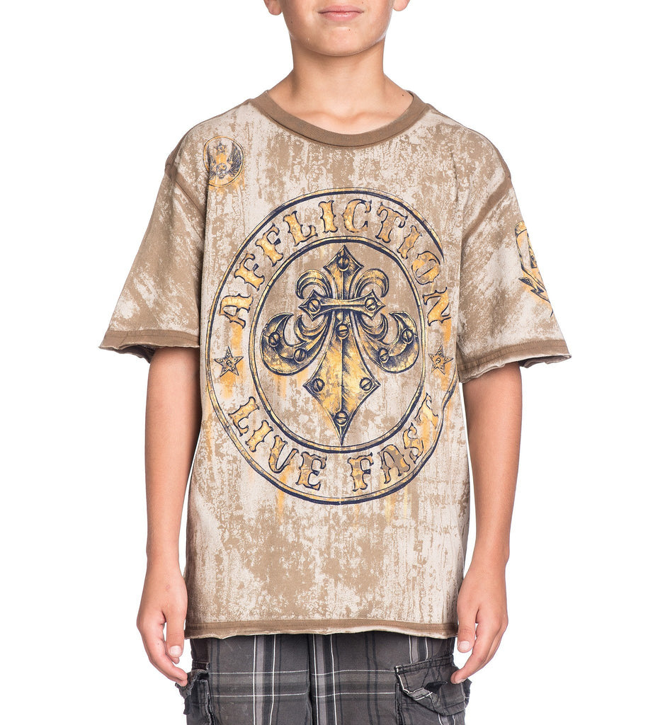 Kids Short Sleeve Tees - Divio Rusted - Youth