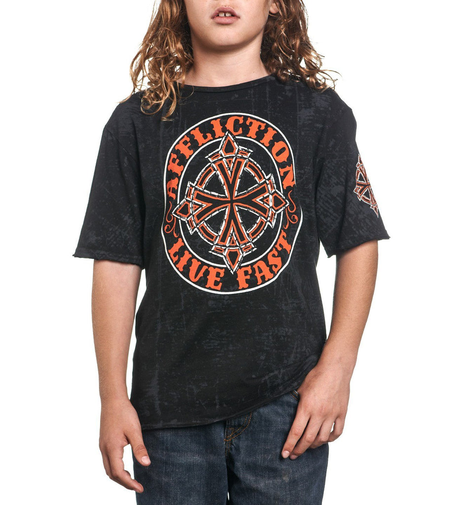 Kids Short Sleeve Tees - Royal Chromatic - Youth