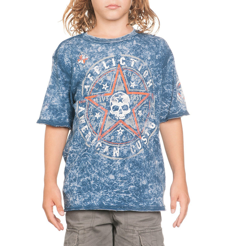 Kids Short Sleeve Tees - Speed Star Reversible - Youth