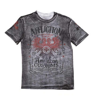 Tried Custom Motors - Youth Reversible - Kids Short Sleeve Tees - Affliction Clothing