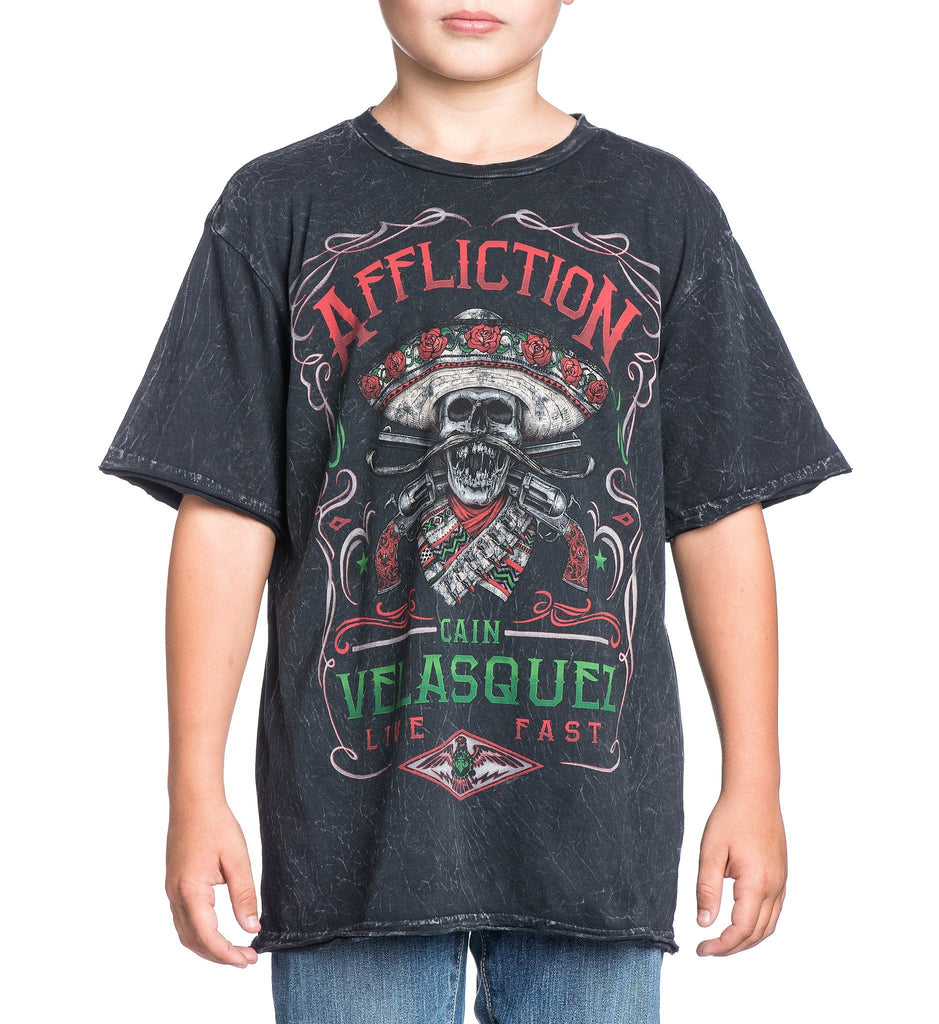 Kids Short Sleeve Tees - Velasquez Caudillo - Youth