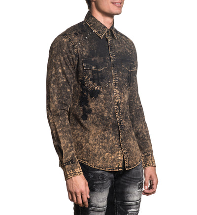Alchemy - Mens Button Down Tops - Affliction Clothing